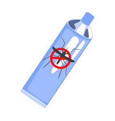 mosquito repellent spray blue can colorful vector image