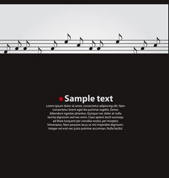 Musical dark background vector