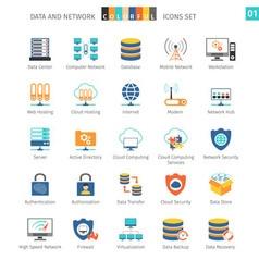 Networks Set 01 vector image