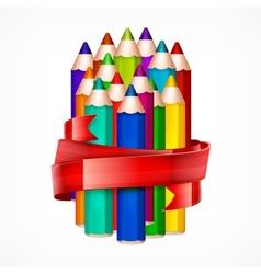 Pencil set Ribbon vector