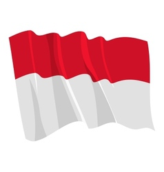 Political waving flag of monaco vector