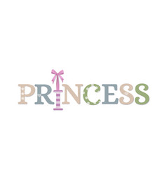 princess plywood decoration vector image