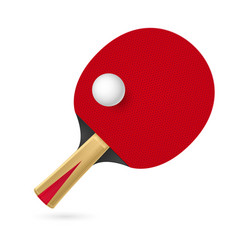 Racket for playing table tennis on white vector