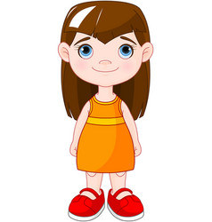 Red shoes girl vector