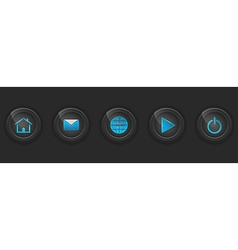 Set of dark buttons for web design vector