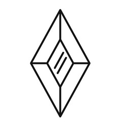 Shiny jewel icon outline style vector