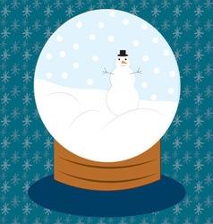 Snowman Snow Globe vector