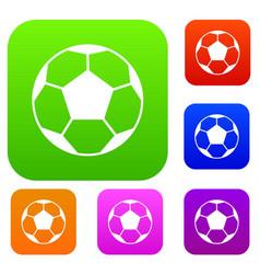 Soccer ball set collection vector