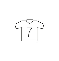 soccer t-shirt icon vector image