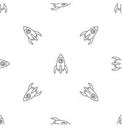 space rocket pattern seamless vector image