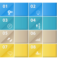 square business template with icons vector image