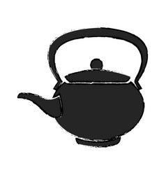 teapot ceramic japanese culture traditional vector image