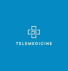 telemedicine logo distance medical consultation vector image