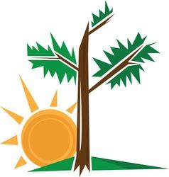 Tree Sun vector