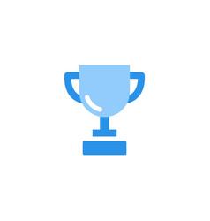 trophy icon blue monochrome color vector image