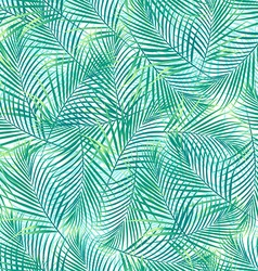 Tropical palm leaves in a seamless pattern on a vector