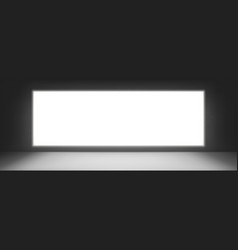 tv or cinema screen television monitor on wall vector image