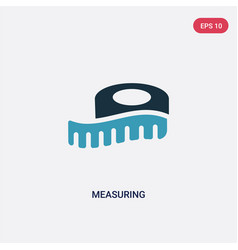 Two color measuring icon from sew concept vector