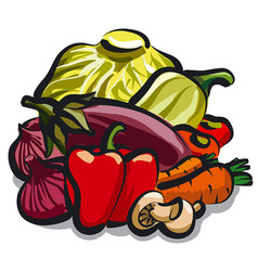 Vegetables for nutrition vector