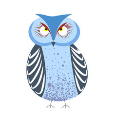 Wildlife owl from wild forest bird with blue vector