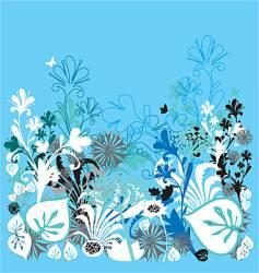 garden of earthly delights blue vector image vector image