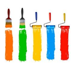 paint roller brush vert vector image vector image