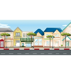 Shops and stores along the street vector image vector image