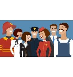 Group of people from different profession vector image