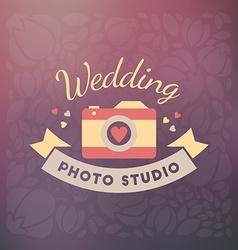 Photography Logo Design Template Retro Badge or vector image vector image