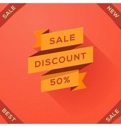 Sale discount paper folding design vector image
