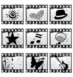 film with symbols vector image