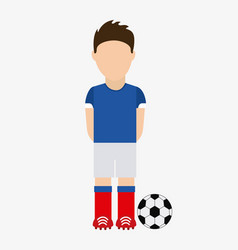 french soccer player avatar vector image