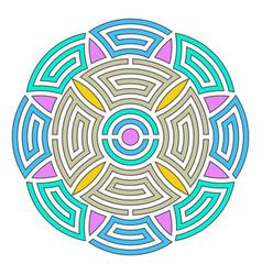 geometric round ornament vector image vector image