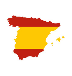 map of spain icon flat style vector image