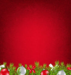 Red Xmas Card vector image vector image