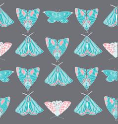 summer moth seamless pattern vector image vector image