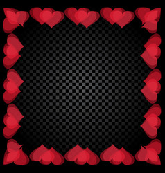 translucent red heart shaped frame are located vector image vector image