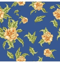 Vintage wallpaper seamless pattern with yellow vector image