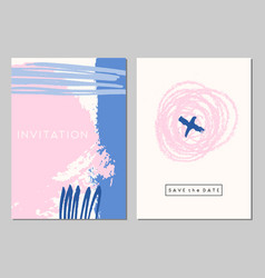 wedding stationery set vector image vector image