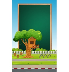 Board design with park background vector image vector image
