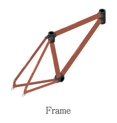 frame bicycle icon isometric 3d style vector image vector image