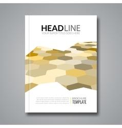 Hexagonal backround business flyer brochure vector image vector image