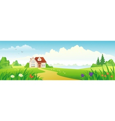 Summer house banner vector image vector image