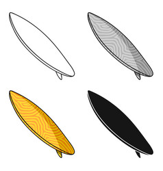 surfboard icon in cartoon style isolated on white vector image vector image