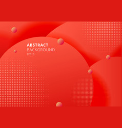 abstract 3d liquid fluid circles red mustard vector image