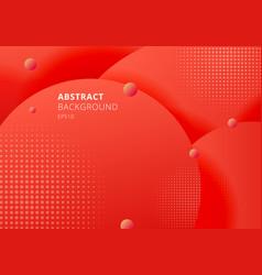 Abstract 3d liquid fluid circles red mustard vector
