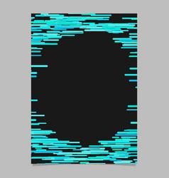 abstract irregular horizontal stripe design vector image