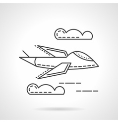 Aerial vehicle thin line icon vector