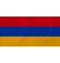 Armenia waving flag vector image