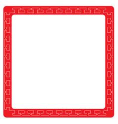 Asian style border vector